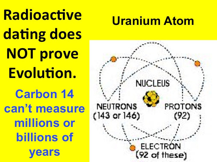 What does radioactive dating measurements